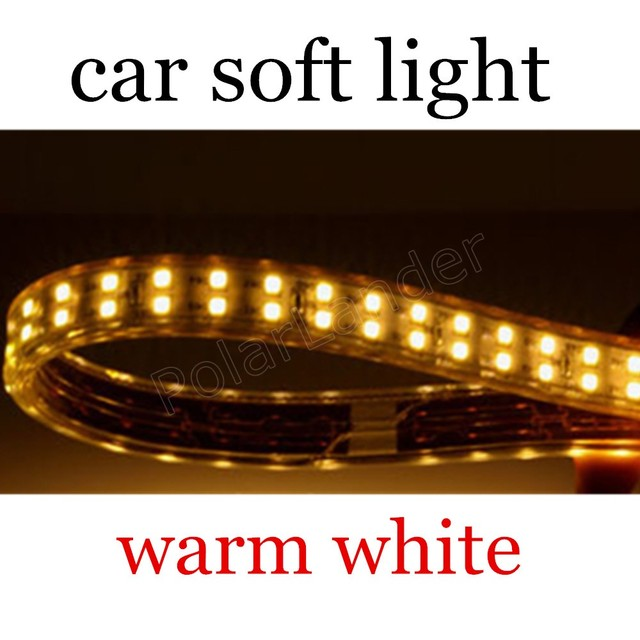 5m/lot Waterproof LED 5050 SMD LED great quality new Strip Light Flexible 12V Car lamp soft flexible warm white 14.4W
