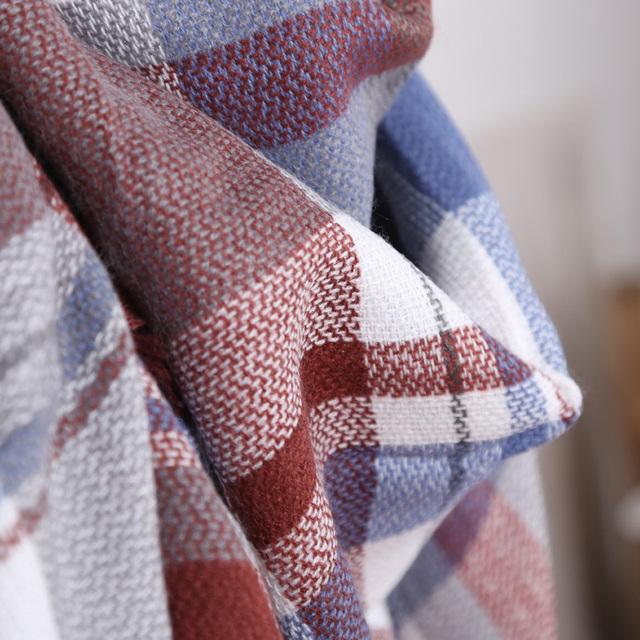 Red Brown Plaid Scarves |Blanket Scarves