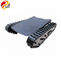 DOIT Metal Tank Chassis with Rubber Crawler Belt Tracked Vehicle Excavator Robot Chassis