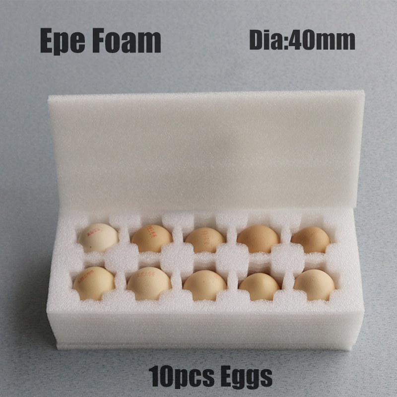 270 * 115 * 80mm EPE Skum For 10 Egg Diameter 40mm Emballasjematerialer Bufferpakning Skumark Polyetylen Imballaggio Gavepose