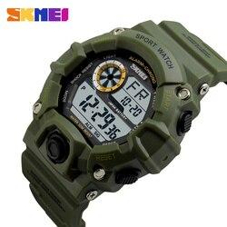 SKMEI Esportes Militares Relógios Homens Choque Digital de Alarme 50 M Relógio À Prova D' Água LEVOU de Volta Luz Relógios de Pulso Relogio masculino 1019