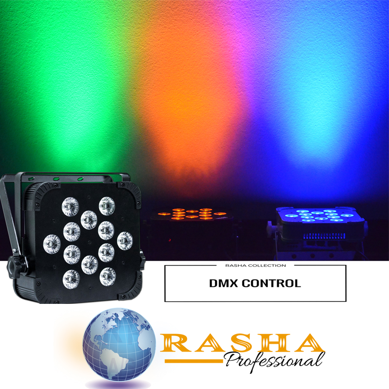(Pack of 16)Rasha Stage Light 12*15W 5in1 RGBAW Wireless LED PAR LIGHT WIFI LED Slim Par Projector For Wedding Party Event