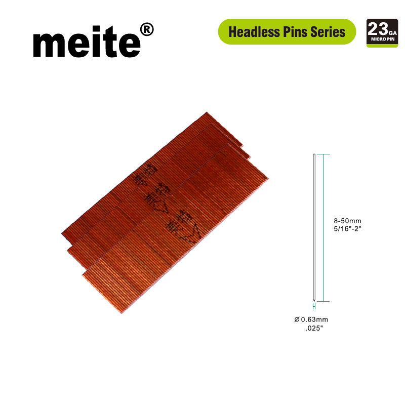 Meite Straight Nails 10000pcs 6-30MM Length Headless Pins Diameter 0.63mm galvanized zinc wire in bronze color