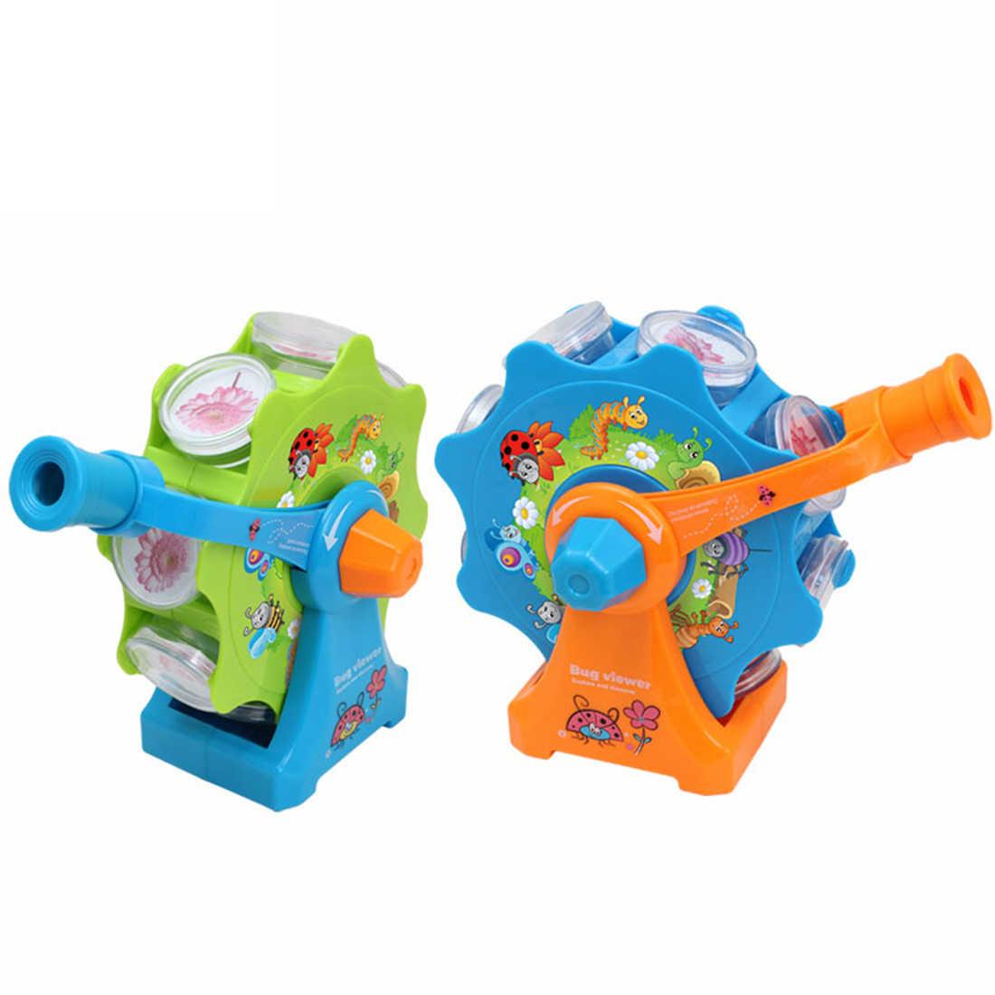 ילדים ענק גלגל חרקים מיקרוסקופ הצופה באג הצופה ביולוגיה מדע ערכות למידה צעצועים-אקראי צבע
