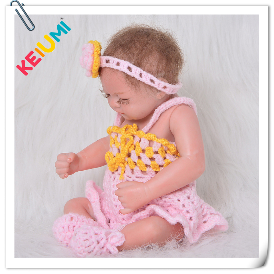 Newborn Doll 11'' 27cm Realistic Baby Reborn Dolls Full Silicone vinyl Body Mini Reborn Girl Gift Alive Peanut bebe kid Playmate simulation baby girl dolls with short yellow hair newborn realistic alive silicone 60cm height gift for kid house education doll