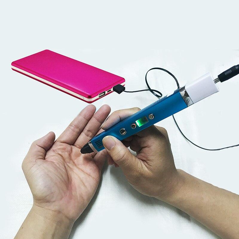 Myriwell 3d stylo + 20 couleurs * 10 mètres PLA filament (200 mètres), stylo d'impression 3d-stylo magique 3d, meilleur cadeau pour les enfants, suppo