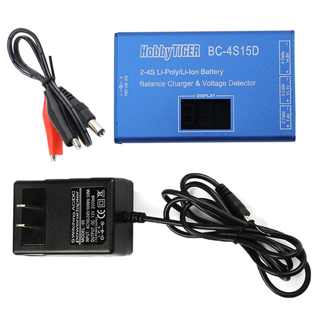 BC-4S15D Battery Lithium Lipo Balance Charger with Voltage Display Screen 1500mA for 2s 3s 4s RC PFV Quadcopter Frame Drone Quad