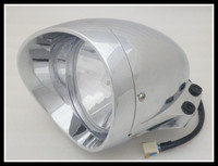 6 3/4 Motorcycle Chrome Bullet Headlight for Harley Chopper Touring Free shipping