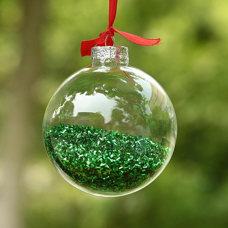 comprar diacm bolas de cristal decoracin de navidad adornos colgantes con purpurina brillante en decoracin de bolas de
