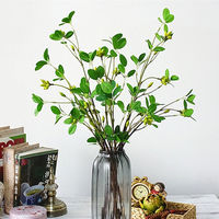 7Pcs Artificial tree branch with green leaves for Christmas home garden DIY decoration fake fruit plants