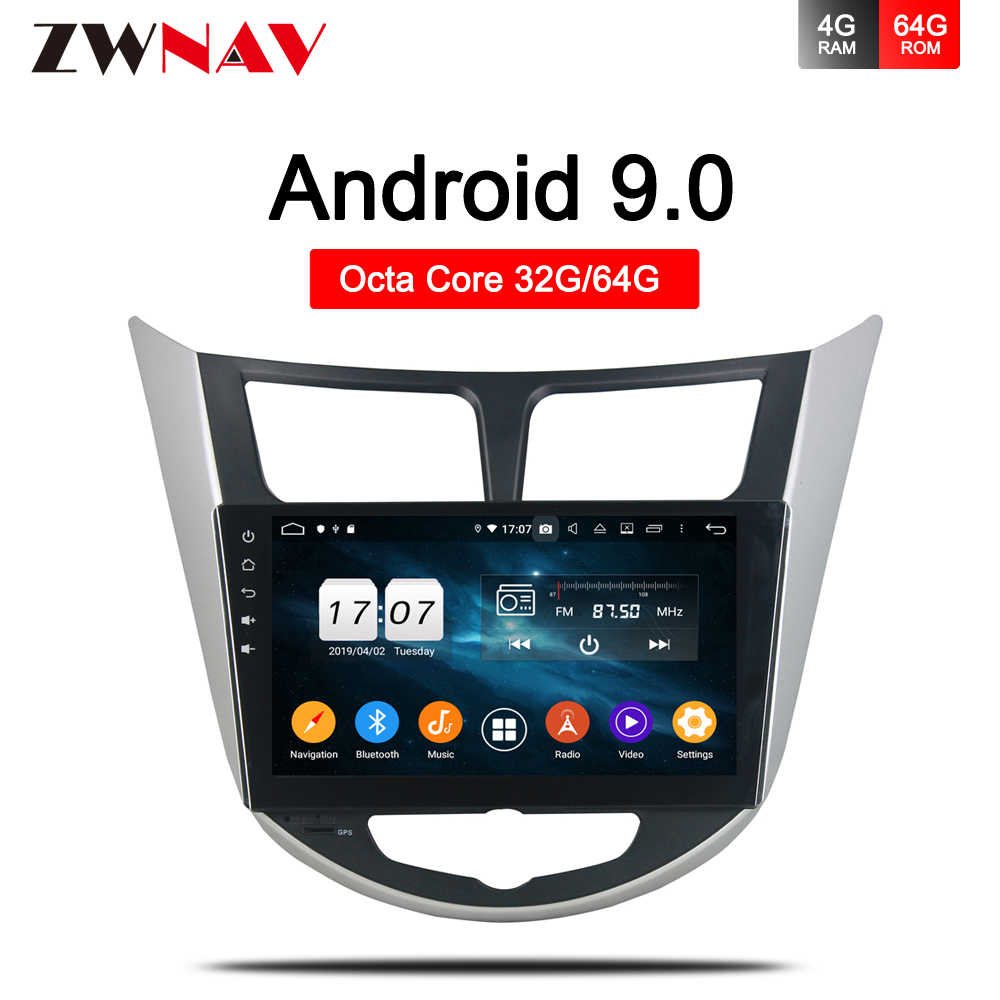 """9/"""" Android 9.1 Car Player Stereo Radio MP5 GPS For Hyundai Verna Solaris Accent"""