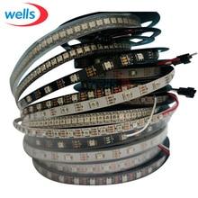 DC5V 1m/3m/4m/5m WS2812Bled pixel strip,30/60/144 leds/m WS2812 IC,Black/White PCB,IP30/IP65/IP67 WS2811 WS2812B strip