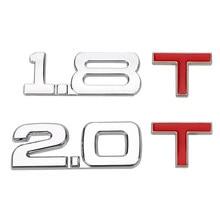 LEEPEE cilindro decalcomania automatica volume di lavoro Logo 3D camion in metallo adesivo universale per Auto 1.8 T 2.0 T distintivo emblema parabrezza
