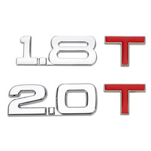 Leepee auto decalque cilindro volume de trabalho logotipo 3d caminhão metal carro universal adesivo 1.8 t 2.0 t brisa emblema emblema