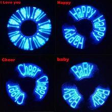 กระพริบตัวอักษรสีฟ้ามือปั่นนิ้วของเล่นLED F Lashแสงอยู่ไม่สุขEDCโฟกัสGyroของขวัญFเด็กผู้ใหญ่