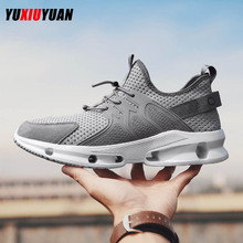 New Adult Men Solid Breathable Wear Resistant Sport Running Shoes Fashion Leisure Lifestyle Ultralight Mesh Sneakers