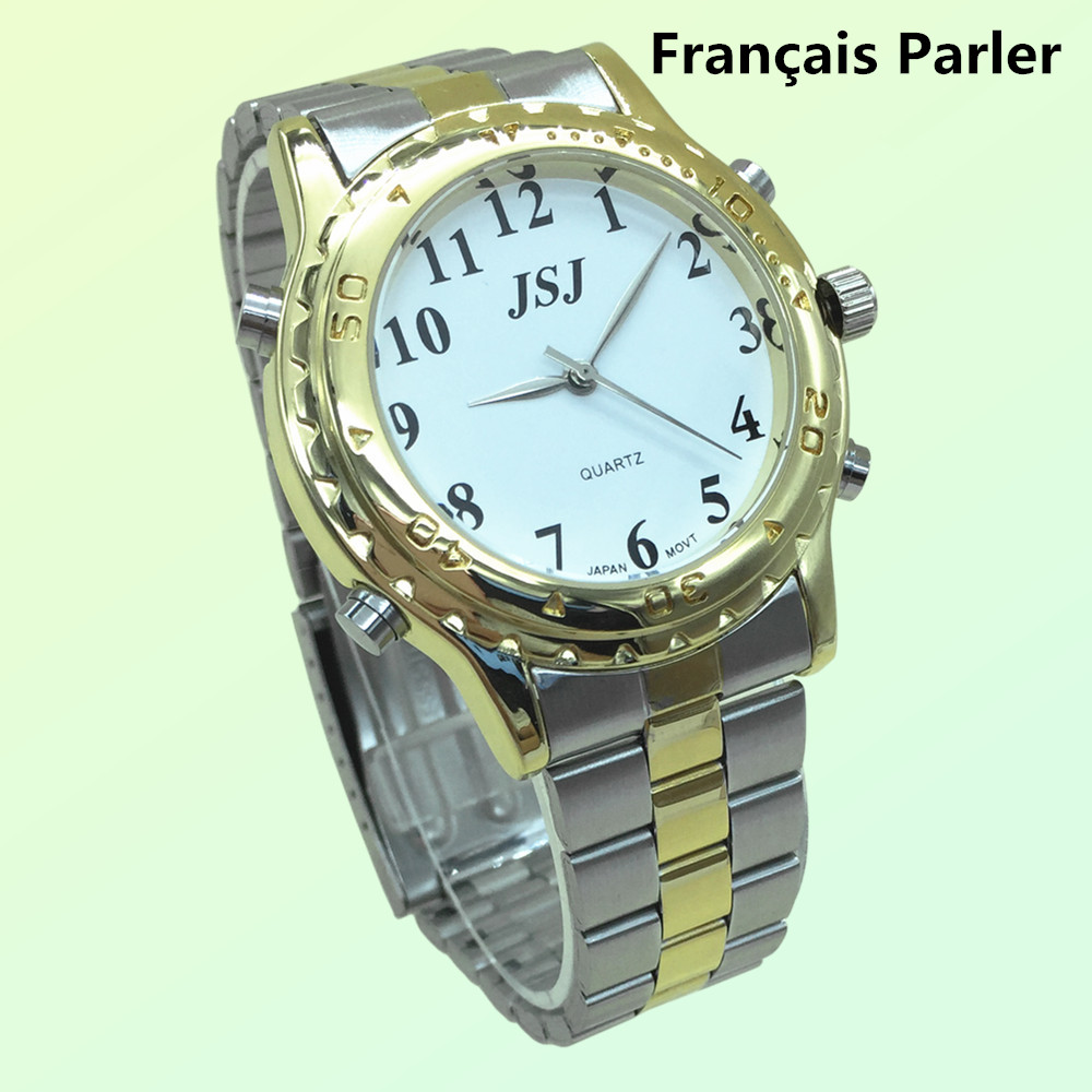 лучшая цена French Talking Watch For The Blind And Elderly Or Visually Impaired People Montre Parlante avec Alarme