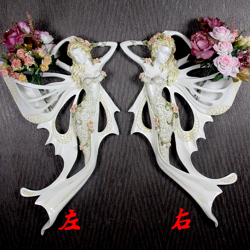 aliexpresscom buy 2pcs gel wall decorations european angel ornaments wall decor vinyl wall fairy garden house angel wall hanging decoration from - Angel Decorations