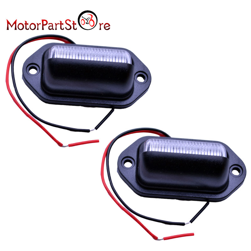 1 Pair Motorcycle 6 LED License Plate Tag Lights Rear Lamp Automobile Accessories Convenience Courtesy Door Step Lamp 3.2W @15