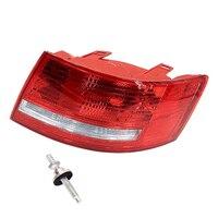 Wooeight 4F5 945 096 D Tylne Zgromadzenie Prawo Taillight Światła Lampy obudowa bez Żarówki dla Audi A6 Quattro A6 Sedan 2005-08