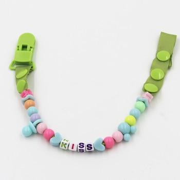 Baby Pacifier Clip Chain New Baby Boys Girls Pacifier Clips Newborn Dummy Pacifier Chain Clip Holder Baby Nipple Feeding