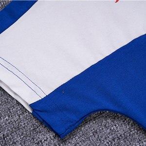 Image 3 - Детская одежда, спортивный костюм, летний комплект для мальчиков из двух предметов, детская одежда, костюм с вышивкой, одежда для детей 4, 6, 8, 10, 12, 14, 16 лет