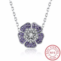 Wholesale Sale Genuine 925 Sterling Silver Necklace Fine Jewelry Fit Original Diy Crystal 925 Jewelry Cherry
