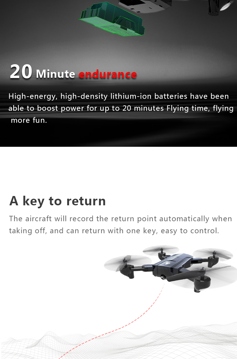F196 RC Drone With Camera 2MP HD Quadrocopter Altitude Hold Optical Flow Positioning Foldable RC Helicopter Dron VS SG900 XS812 10