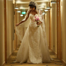 saf sid Mermaid Wedding Dresses With Detachable