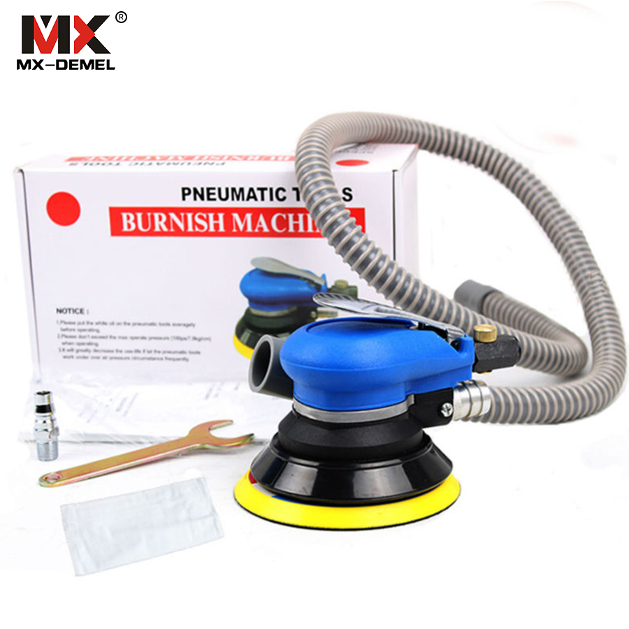 MX-DEMEL 5 Inch Random Orbital Air For Palm Sander & Car Polisher Vacuum Cleaner Set Tool 5inch Polishing Machine Powewr Tools 5 inch 125mm pneumatic sanders pneumatic polishing machine air eccentric orbital sanders cars polishers air car tools