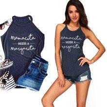 6585710a3cf295 Fashion Women Summer Letter Print Tank Top Comfortable Casual Jeans Tops  Work Sleeveless Loose Harajuku Cute