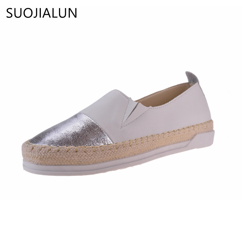 SUOJIALUN Women Loafers 2018 Spring Autumn Casual Flat Comfortable Round Toe Slip On Flat Shoes Mesh Women Shoes 3 Colors casual flat shoes woman 2018 spring solid loafers slip on flats fashion round toe women shoes 3 colors size 35 40 f039