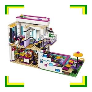 Image 3 - בניין בלוק 10498 תואם חברים ליווי של פופ כוכב בית 41135 אמה מיה דמות חינוכיים צעצוע לילדים
