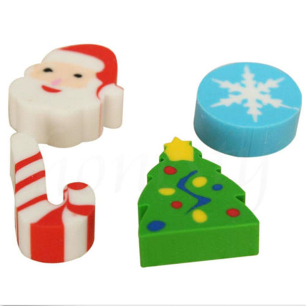 35Pcs Eraser Santa Christmas Tree Snowflake Advent Calendar Gift For Kids Student Cute Eraser School Office Tool
