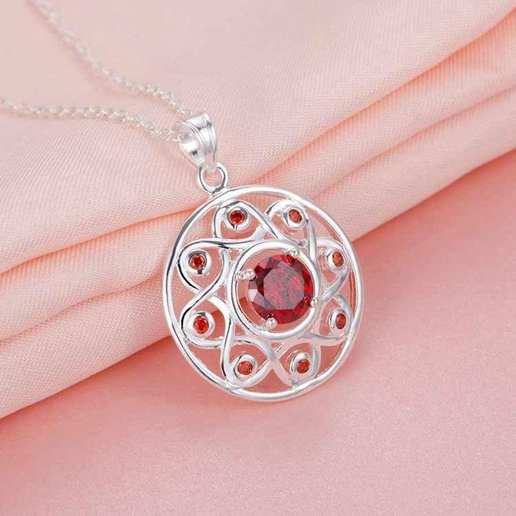 תכשיטים נחמד כסף מצופה נשים שרשרת באיכות גבוהה 3 צבע WN1927