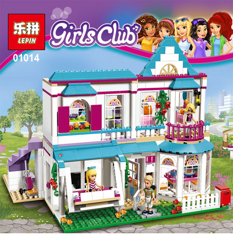 2017 New LEPIN 01014 Friend Series Stephanie s House Dad James and Mom Alicia Building Block