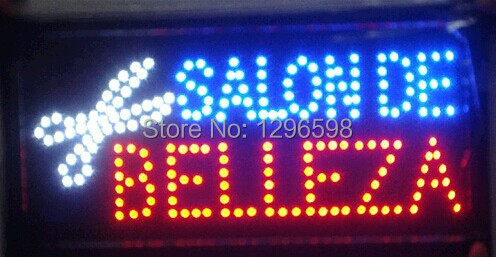 CHENXI Hot Sale Graphics 19X10 Inch indoor Ultra Bright flashing belleza salon/Beauty shop open neon sign of Led