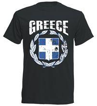 2018 Hot Sale Summer Fashion Newest 100% Cotton Griechenland Greece Mens Footballer Vintage Tee Shirt for MenTops