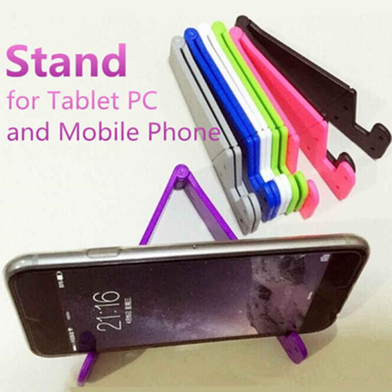 W kształcie litery V uniwersalny składany telefon stojak na telefon uchwyt na smartfona i Tablet Samsung regulowany uchwyt na telefon