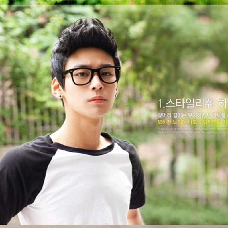 Soowee Hübsche Sonnenschein Koreanischen männer Kurze Haare Perücken für Männer Synthetische Haar Cosplay Perücke Lockige Junge Natürliche Haar Headwear
