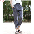 Women Autumn Fine Plaid Harem Pants Long Trousers Slacks