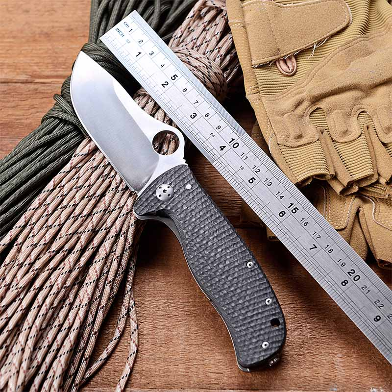 WTT C157 Folding Pocket font b Knife b font Elmax Steel Combat Outdoor Camping font b