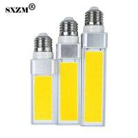 Sxzm 10 W 12 W 15 W COB LED PL lámpara bombillas AC110V 220 V Blanco/blanco cálido hogar iluminación dormitorio comedor
