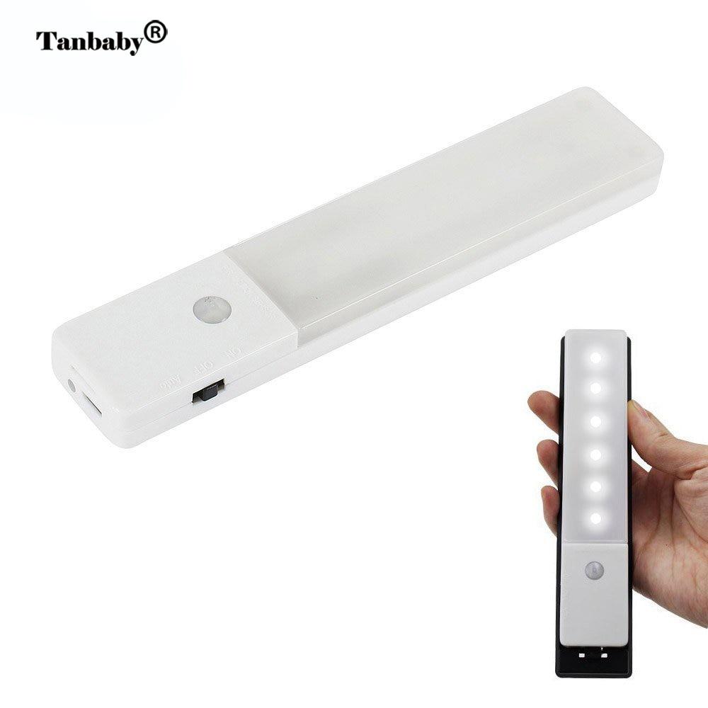 Tanbaby PIR Bewegungsmelder Nachtlicht USB Wiederaufladbare 3-Modes LED wandleuchte Schublade Schrank kleiderschrank nacht Beleuchtung