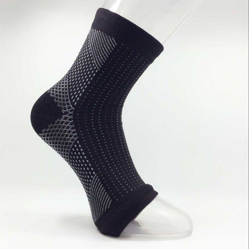 2016 New 1 Pcs Foot Compression Sleeve Anti Fatigue Angel Circulation Ankle Swelling Relief
