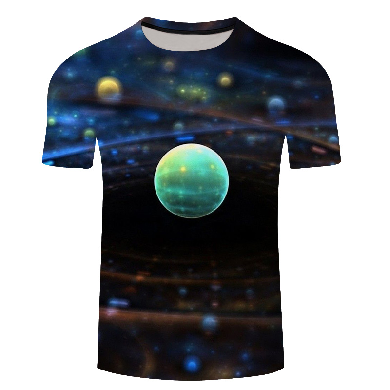 Brand Earth T Shirt Moon T-shirt Space Tshirt Hip Hop T Shirt Men 2018 Summer Summer Shirt Mens Short Sleeve Tee Shirts 6xl