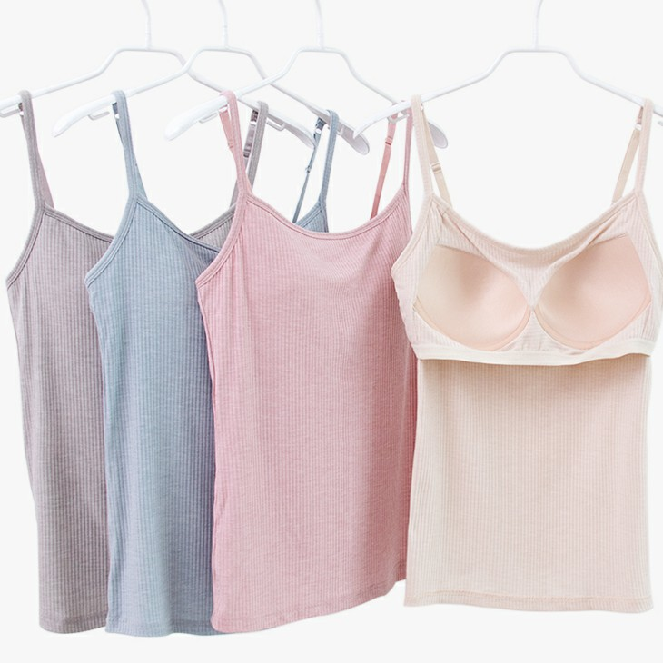 Gymnastics Ballet Bodysuit For Women Ballerina Clothes Adult Cotton Top Bra Sling Straps Padded Sleeveless Leotards Costume