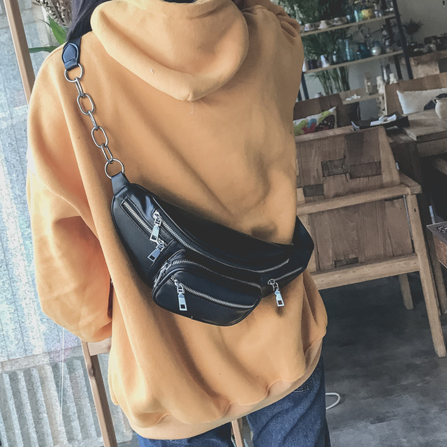 XINGMING Новая женская многофункциональная поясная сумка Женская поясная сумка модные мешки кожаные для телефона маленькая поясная сумка крутая женская сумка