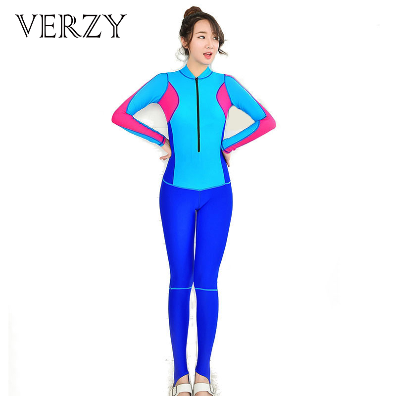 Colorful Standing collar Sexy women s wetsuit Female swimwear One Piece Diving Surfing Bodysuit Girls swimming