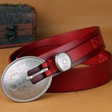 2017 fashion brand full grain 100% genuine leather belt high quality sashes famale casual belts for women cowgirl size 38 jeans